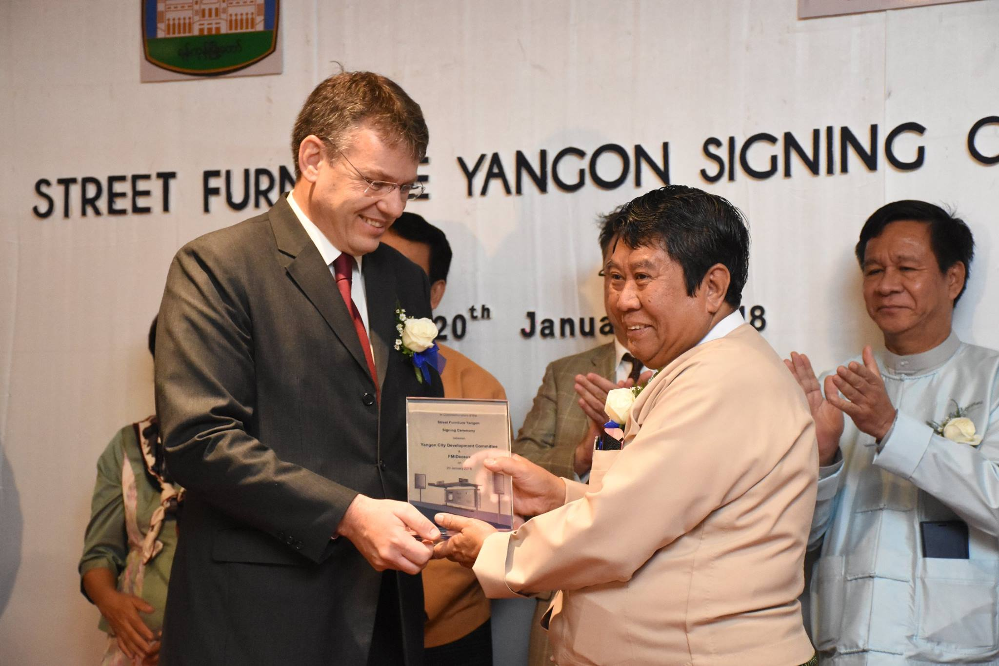 Street Furniture Yangon Signing Ceremony