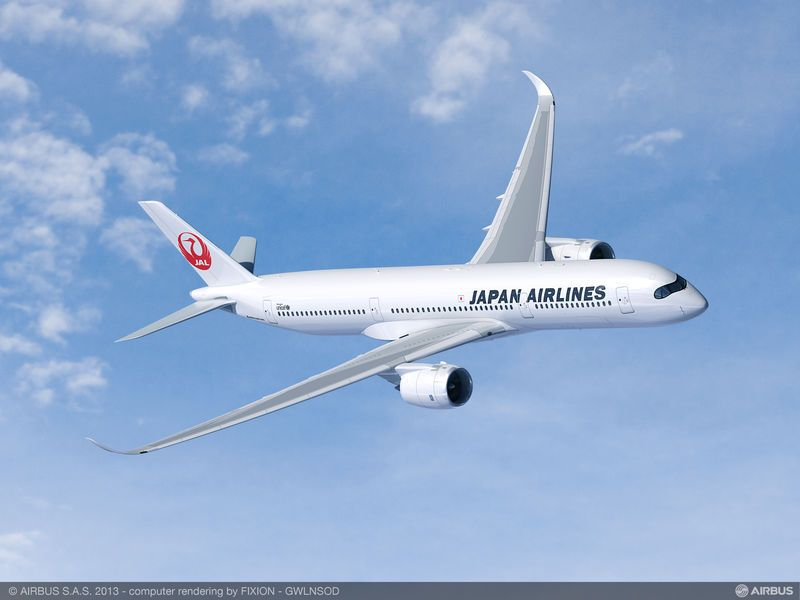 Airbus A350 Japan Airlines (simulation)